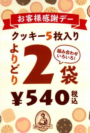 9のつく日 よりどり2袋540円開催!!