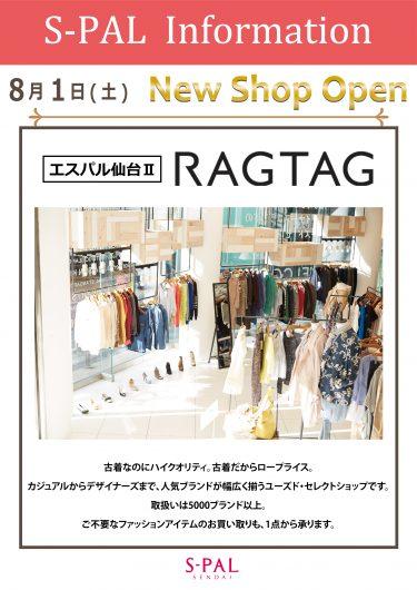NEW SHOP OPEN!! RAGTAG