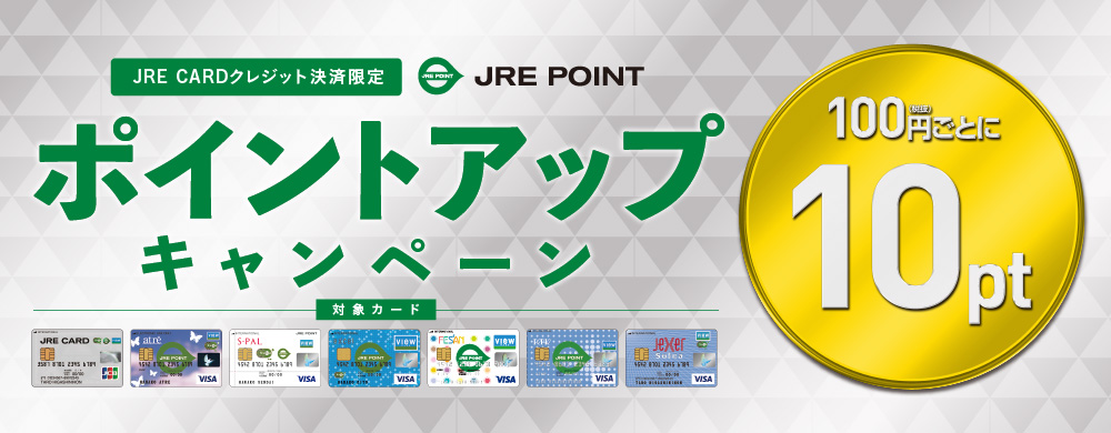 JRE CARDクレジット限定ポイントアップ