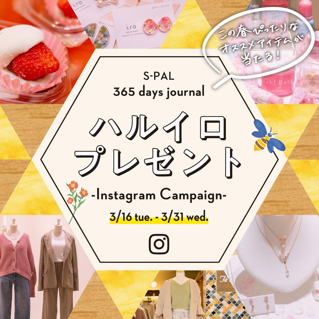 S-PAL 365 days journal ハルイロプレゼントキャンペーン