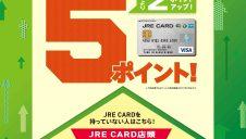 JRE CARD会員限定!ポイントアップキャンペーン!