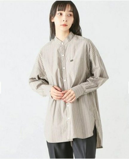 【新作】スタンドカラー長袖シャツ