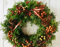 山形産の花材を使いクリスマスリースを作ろう!